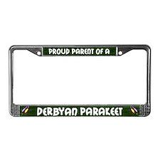 Proud Parent Derbyan Parakeet License Plate Frame
