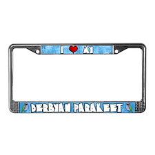 Crtn Love Derbyan Parakeet License Plate Frame