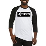 One Way Sign - Left - Baseball Jersey