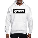One Way Sign - Left - Hooded Sweatshirt