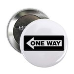 """One Way Sign - Left - 2.25"""" Button (10 pack)"""
