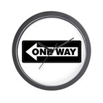 One Way Sign - Left - Wall Clock
