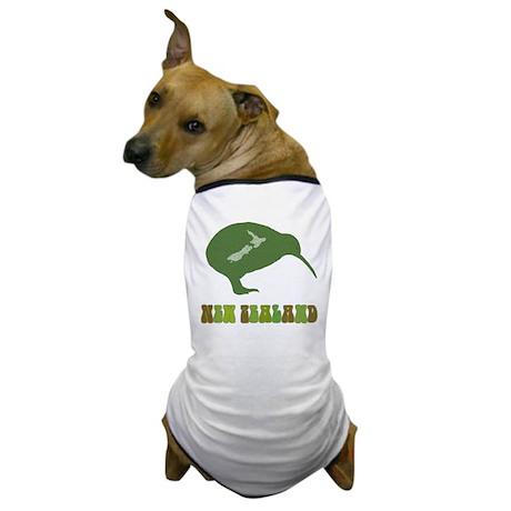 Green New Zealand Kiwi Dog T-Shirt