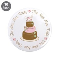 """The New Mrs. Daly Personalized 3.5"""" Button (10 pac"""