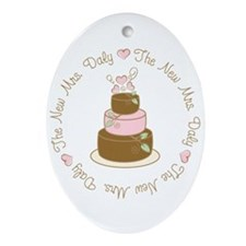 The New Mrs. Daly Personalized Oval Ornament