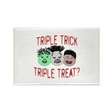 Triple Treats or Tricks Rectangle Magnet