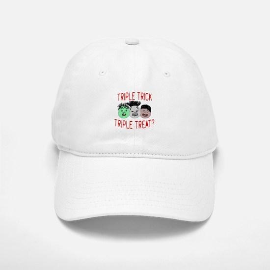 Triple Treats or Tricks Baseball Baseball Cap