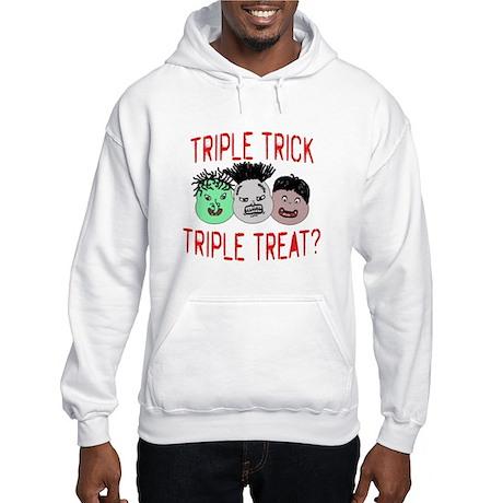 Triple Treats or Tricks Hooded Sweatshirt