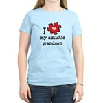 I Love My Autistic Grandson Women's Light T-Shirt