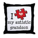 I Love My Autistic Grandson Throw Pillow