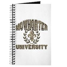 McWhorter Name University Personalized Journal