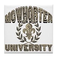 McWhorter Name University Personalized Tile Coaste