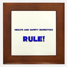 Health And Safety Inspectors Rule! Framed Tile