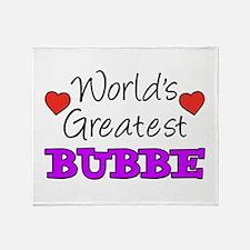 World's Greatest Bubbe Drinkware Throw Blanket