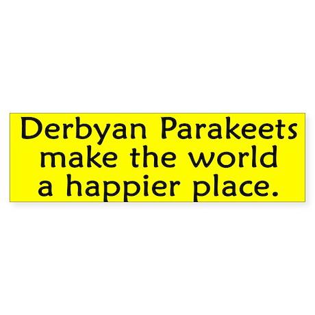 Happy Place Derbyan Parakeet Bumper Sticker