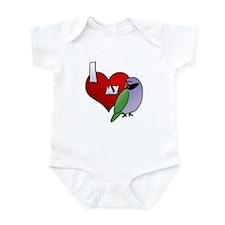 Love Derbyan Parakeet Baby Creeper