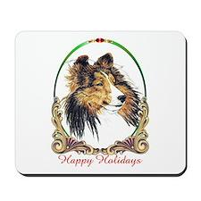 Sable Sheltie Happy Holiday Dog Mousepad