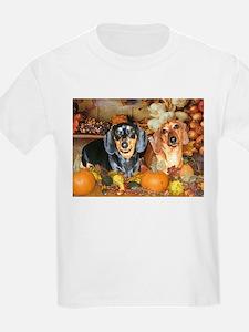Autumn Dachshunds T-Shirt