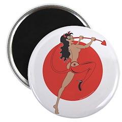 "Cool She Devil Pinup Girl 2.25"" Magnet (100 p"
