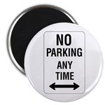 """No Parking Any Time Sign - 2.25"""" Magnet (10 pack)"""