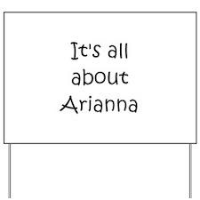 Cool Arianna Yard Sign