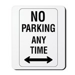 No Parking Any Time Sign - Mousepad