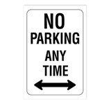 No Parking Any Time Sign - Postcards (Package of 8
