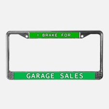I Brake for Garage Sales License Plate Frame