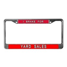 I Brake for Yard Sales License Plate Holder