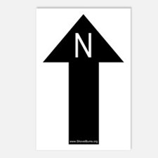 Archaeology north arrow Postcards (Package of 8)