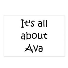 Cute Ava Postcards (Package of 8)