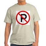 No Parking Sign Ash Grey T-Shirt
