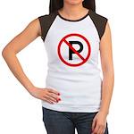 No Parking Sign Women's Cap Sleeve T-Shirt