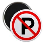 """No Parking Sign - 2.25"""" Magnet (100 pack)"""