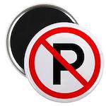 No Parking Sign - Magnet