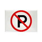 No Parking Sign - Rectangle Magnet (10 pack)