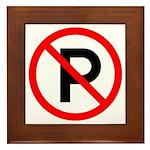 No Parking Sign - Framed Tile