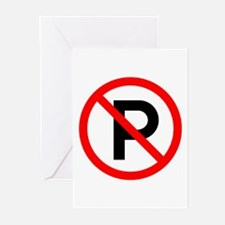 No Parking Sign - Greeting Cards (Pk of 10)