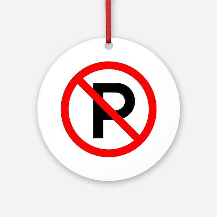 No Parking Sign - Keepsake (Round)