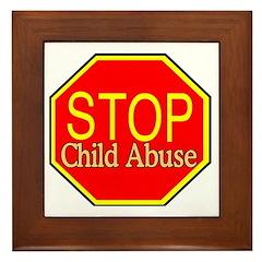 Stop Abuse Framed Tile