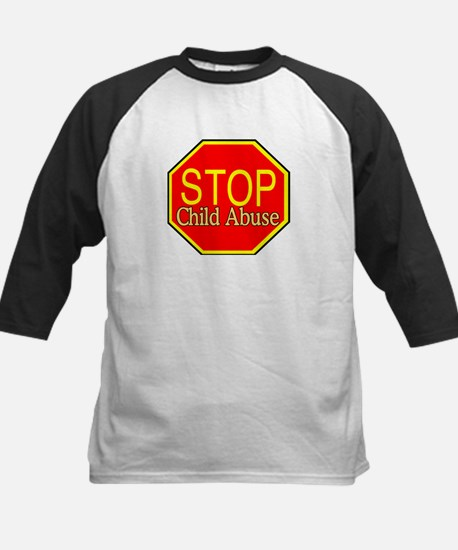 Stop Abuse Kids Baseball Jersey