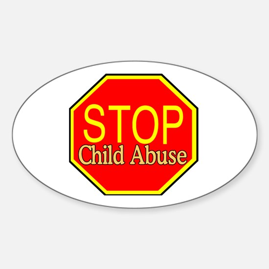 Stop Abuse Oval Decal