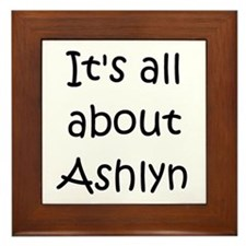 Funny Ashlyn Framed Tile