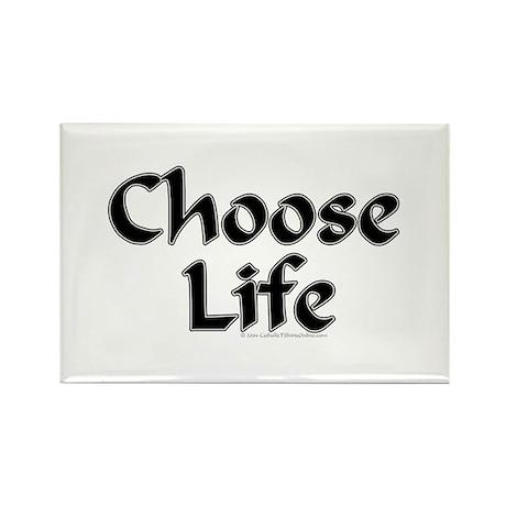 Choose Life Rectangle Magnet