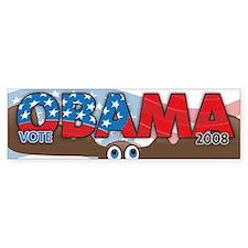 Vote OBAMA save a MOOSE Bumper Bumper Sticker