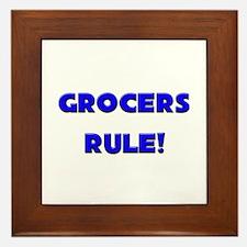 Grocers Rule! Framed Tile