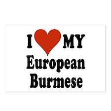 European Burmese Postcards (Package of 8)