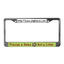 Funny Spay neuter rescue License Plate Frame