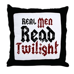 Real Men Read Twilight Throw Pillow
