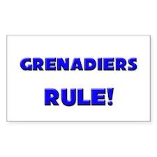 Grenadiers Rule! Rectangle Decal